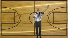 3 Point Score, court Stock Footage
