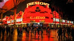 Fremont Street Experience in Las Vegas Stock Photos