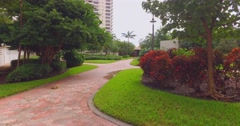 Gardens and buildings Stock Footage