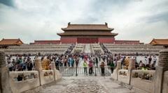 Forbidden City Timelapse Center Beijing China Stock Footage