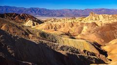 Zabriskie Point in Death Valley Stock Photos