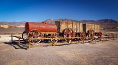Twenty Mule Team Wagon in Death Valley - stock photo