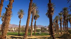 Furnace Creek Golf Course in Death Valley Stock Photos