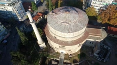 "Aerial shot the Church of the Rotonda in Thessaloniki, built as the ""Tomb of Gal Stock Footage"