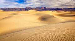 Mesquite Flat Sand Dunes in Death Valley Stock Photos