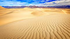 Death Valley Mesquite Flat Sand Dunes Stock Photos