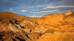 Artists Palette in Death Valley National Park Timelapse - stock photo