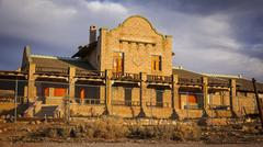 Rhyolite Ghost Town Building - stock photo