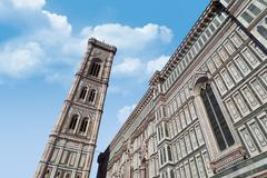 Florence Duomo Belfry - stock photo