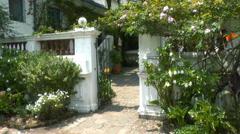 The Courtyard of an Ecuadorian Hacienda Stock Footage