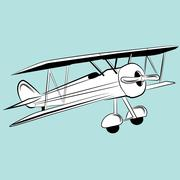 Propeller Plane Drawing Stock Illustration