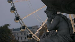 Ferris wheel  in Budapest. Detail Stock Footage