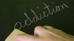 Stock Video Footage of Erasing Addiction