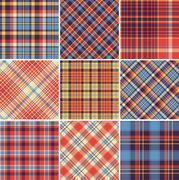 Set of seamless tartan patterns Stock Illustration