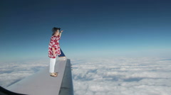 Flying Tourist Stock Footage