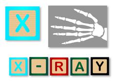 Stock Illustration of X Is For X Ray