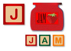 J Is For Jam - stock illustration