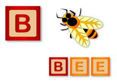 B Is For Bee - stock illustration