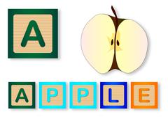 A Is For Apple Stock Illustration