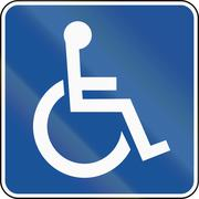 United States MUTCD road road sign - Handicapped accessible - stock illustration