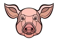 Pig head mascot Stock Illustration