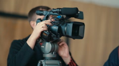 Man With Camera Stock Footage