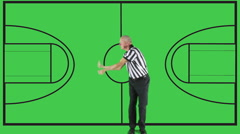 Illegal Dribble,  green screen, court - stock footage