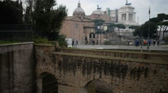 Basilica of Santi Cosma and Damiano in Rome, Italy Stock Footage