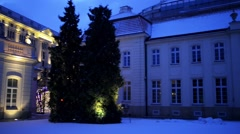 Potocki Palace at Krakowskie Przedmiescie, Warsaw Stock Footage
