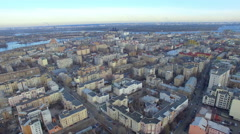 Flight over the capital of Ukraine Stock Footage
