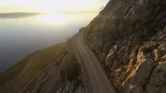Aerial view of scenic road Stock Footage