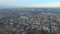 Flying high above the beautiful city of Kiev Stock Footage