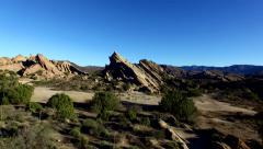 Vazquez Rocks in California 4K footage Stock Footage