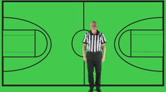 Personal Foul,  green screen, court Stock Footage