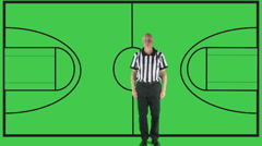 Personal Foul, green screen with court Stock Footage