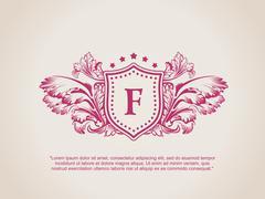 Vintage Decorative Elements Flourishes Calligraphic Ornament F Stock Illustration