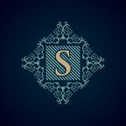 Vintage Decorative Elements Flourishes Calligraphic Ornament S Stock Illustration
