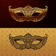 Beautiful mask of lace. Mardi Gras vector background Stock Illustration