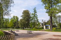 Parc de L'Orangerie, a public park in Strasbourg city, France - stock photo