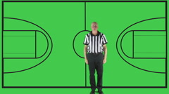 Technical Foul, court Stock Footage