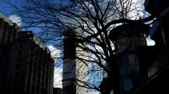 Timelapse. Skycraper in Tottenham Court Road. London Stock Footage