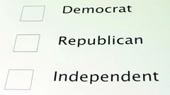 Voting Independent - stock footage