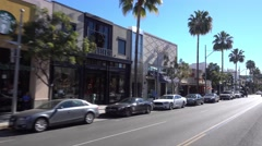 Beverly Drive Shops Establishing Shot Stock Footage