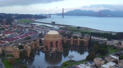 Aerial ViewAerial View of museum of fine arts San Francisco Ca usa Stock Footage