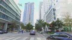 Streets of Brickell Miami Stock Footage