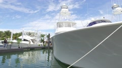 Viking Yachts Miami boat show Stock Footage