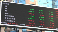 China stock market index, financial data, speculation, risk, reward, trading - stock footage