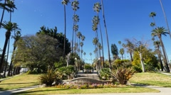 Will Rogers Memorial Park in Beverly Hills Stock Footage