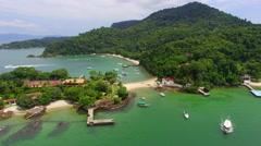 Aerial View of Piedade Island in Angra dos Reis, Rio de Janeiro, Brazil Stock Footage