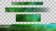 Ecological Lower Thirds. Green - stock footage